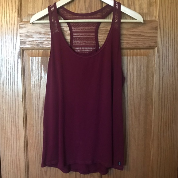 Gilligan & O'Malley Other - Gilligan & O'Malley Lace Racer Back Tank Top Large